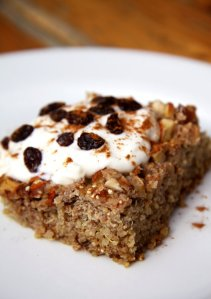 Quinoa Apple Cinnamon Bake with Greek Yogurt
