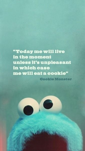 Cookie Monster Sure Knows How It Works